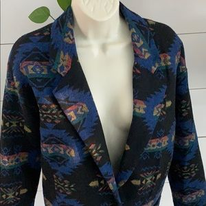 Forever 21 Aztec Print Over-sized Blazer Jacket S